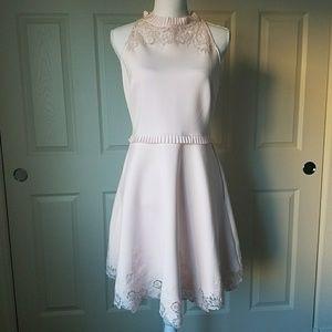 Ted Baker Zaffron Embroidered Fit & Flare Dress